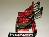 Rearsets Honda CBR 1000 04-07 Red & Black