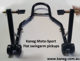 Swingarm Rear Black Stand with Flat Adapters - Motocycle paddock Swingarm stand