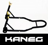 Rear Stand plus Free Spools - black - Motorcycle, Motorbike, racing paddock stand - suits most sports bikes