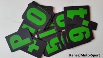 Green & Black in a draw string bag