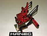 Rearsets Honda CBR 600 03-10  Black & Red