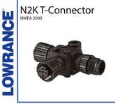 Lowrance N2K-T-RD Nmea 2000 T-Connector - Post Included
