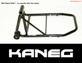 Single Swingarm Rear Stand Black NO spindle - THE BIGFOOT - post included
