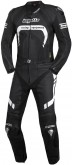 Borgetto Leather 2 Pc Race Suit - Black - White Highlights