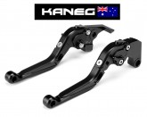 Yamaha FZ6R 2009-2015 - Kaneg EVO IV - Flat Black  Brake & Clutch Lever set - fully adjustable for length and articulated Race Levers - Post included