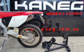 Trailer Mate Evo Dirtbike MX Wheel Chock Transport Stand - Fixed Head and Pivoted Secure Locking Wheel Cradle