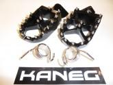 Kaneg Racing - KTM 1992-2016 2 Stroke - EXC, XC, SX - billet Foot Pegs + Springs - Post Included