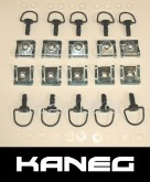 Fairing Fasteners Quick Release Black Motorbike Motorcycle Set of 10