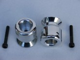 Triumph 6mm Swing Arm Protector Slider and Pickup Spools LARGE Alloy