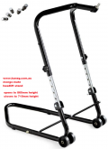 Kaneg Adjustamate: Adjustable Height Headlift paddock stand - triple clamp -  Front Wheel Lift - Post included