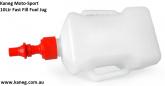 10 Litre Race Rapid Fill Fuel Jug, Kaneg Fast Fill.