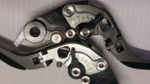 A Lever six step range of adjustment for both the brake and clutch levers