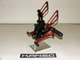 Rearsets Suzuki Hayabusa Black & Red