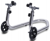 Rear Stainless Steel Motorcycle Paddock Stand + a Set of 6mm or 8mm Mini Spools - Post included