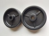 Stand wheels hard plastic - 2 pieces - Post included