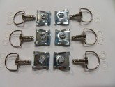 Fairing Fasteners Quick Release Chrome Finish Motorbike Motorcycle Set of 6