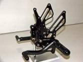 Rearsets Suzuki GSXR 600/750 01-05 Black
