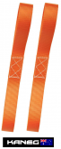 25mm Looped Tie Down Straps -A Pair of Motorcycle Marine Truck Trailer Lashing Transport Straps - Post included
