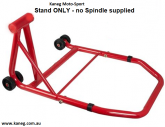 Single Swingarm Rear Stand Red NO spindle - THE BIGFOOT - post included