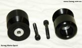 6mm Black Jumbo Spools - Pickups - Swing Arm Protector Sliders - Post included