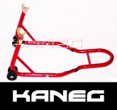 Kawasaki  ZX-6 1989-1997   RED Rear Hooked Paddock Stand with mini-spools- includes postage
