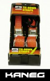 Set of two KANEG Tie Down Straps. Heavy duty motorbike, motorcycle tie downs