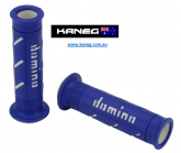 Domino Road & Race XM2 Double Super Soft Blue/White Grips - Post included