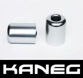 Kaneg Bar Ends - Silver - Kawasaki ZX6R/7R/9R/12R/Z1000/ZX10R