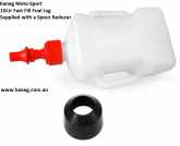 10 Litre Race Rapid Fill Fuel Jug, Kaneg Fast Fill AND a Spout Reducer - Post included