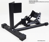 Trailer Mate Evo Wheel Chock Transport Stand - Fixed Head and Pivoted Secure Locking Wheel Cradle Lock