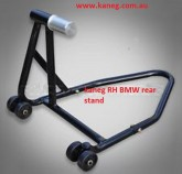 BMW Right Hand: Black Single Swing Arm Stand with spindle